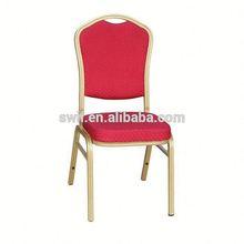 Newest gold metal chair aluminum tube banquet chair cheap steel hotel chair