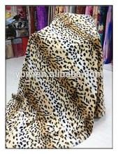 Classic Hot Design PV Plush Bed Spread Animal Printed Mink Wedding Blanket