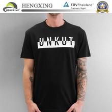 Custom high quality blank women men plain stretch print 100 cotton t shirt