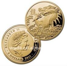 2012 Decorative dragon gold souvenir coin