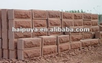 Red sandstone wall block