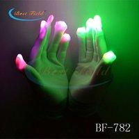 LED Gloves Rave Light Flashing Finger for party2012