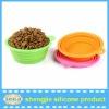 Alibaba hot selling FDA silicone pet bowls folding dog bowl /dishes pet water bowl