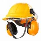 Work head protection custom safety helmet ear muffs