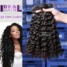 5A grade tiny curly wholesale jerri curl peruvian hair weaving