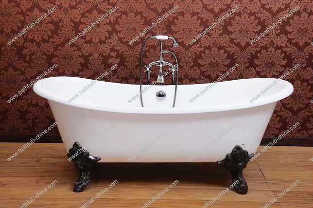 vasca bateau ghisa smalto da bagno con piedi id