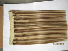 2013 Fashion 18Inch Flip In Mixed Color Human Hair Weaving With Lace 140g/piece