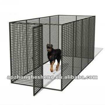 Black Painted Metal Dog Fence/Dog Kennel/Pet House