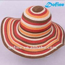 summber beach hat, assorted wide brim straw hat