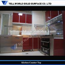Kitchens furniture 2012,solid surface modern complete kitchen design