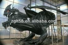 Theme park sculpture dragon metal