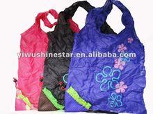 fashion flower printing foldable shopping bags 1107020028