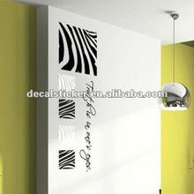 Fashion Zebra Design Anti-Water Vinyl Wall Decal&Sticker