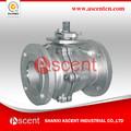 2014 venta caliente de alta calidad de doble brida de acero inoxidable válvula de bola