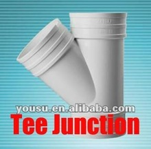 3 way pipe fitting/Tee junction 45 degree