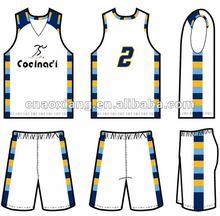 Latest design basketball uniform2013