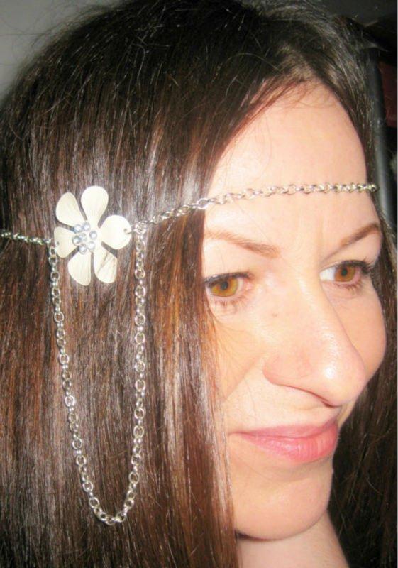 2012 New Design Daisy Hair Piece Chain jewelry