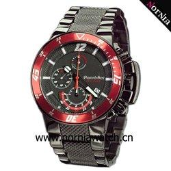 MEN'S STANLESS STEEL BLACK WATCH quartz stainless steel watch black