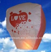 Hot air balloon paper sky lantern for wedding use
