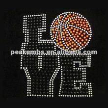 Love with basketball cheap rhinestone transfer design