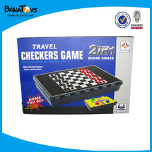 Bottom 4 chess pieces CHESS GAME /international checkers 2 in 1 game toys