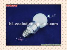 Top rank 3w sliver e27 led bulb lamp