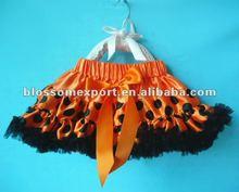 Halloween orange with black polkdots pettiskirt for baby girls