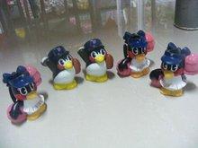 penguins group toy, promotional toy,vinyl pvc design animal sets toy