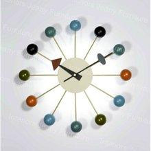 Colored ball clock design