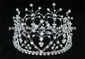 Atacado noivas coração strass cristal mini tiara círculo completo coroa ct1598
