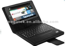 Bluetooth keyboard leather case for google nexus 7, for google nexus 7 case with keyboard