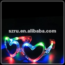 2012 multicolor led flashing party sunglasses with logo