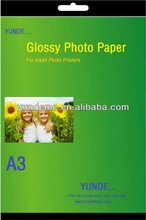 Glossy Photo Paper Cast coated high quality a4 paper