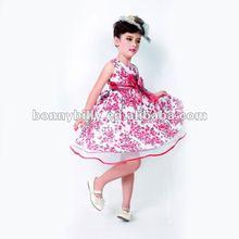 2012 fashion 100% cotton pink girls frock designs