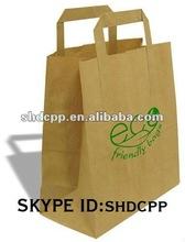 kraft paper grocery bag