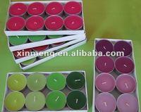 colorful tea light candle/scented tea light candle