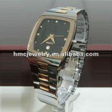 2012 Men's Stylish Tungsten Steel Men Wrist Watches With Black Dial
