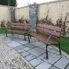 antique cast iron garden bench, street wooden iron bench, antique park bench