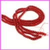 Bone Shape Red Natural Coral Beads For Necklace Making CROB-26