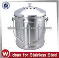 1.5 aço inoxidável galão balde composto/ cozinha composto bin