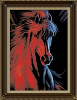 wholesales diy oil painting with numbers horse design painting hot selling