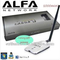 Alfa luxury awus036h-x-concepts long range usb wifi adapter dual 2DBI and 8DBI Antenna