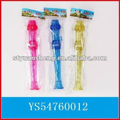 Dos desenhos animados transparente clarinete brinquedos para crianças