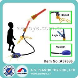 Outdoor game children air pump foam stomp rocket toy