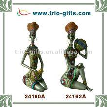 african women sculpture resin craft
