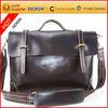 Stylish dark coffee color patent leather laptop bag