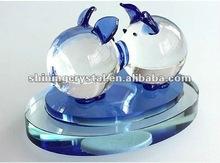 lovely crystal double piggys crystal perfume bottle