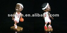 Fashion NBA Lebron James Resin Super Star Toy/shake head resin toys