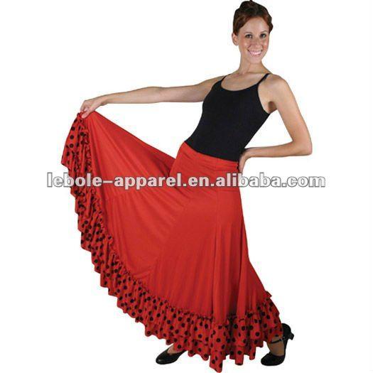 bal togs flamenco para adultos de baile de salsa vestidos de rendimiento