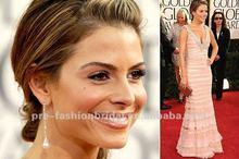 The Hotest Star Hand-made Short Sleeve Layered Beaded V Neck Celebrity Inspired Dresses